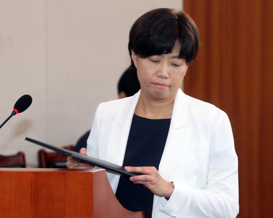 이유정 전 헌법재판관 후보자. 강정현 기자