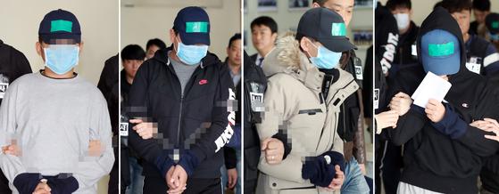 중학생 집단폭행 추락사건 피고인들. [연합뉴스]