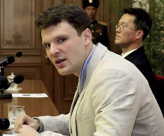 북한에 억류됐다 혼수상태로 미국 송환돼 숨진 오토 웜비어. [AP=연합뉴스]