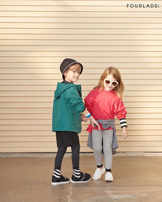 미세먼지를 막는 원단과 디자인을 채택한 어린이용 점퍼와 티셔츠          [사진 제로투세븐]