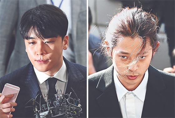 승리·정준영 경찰 출석