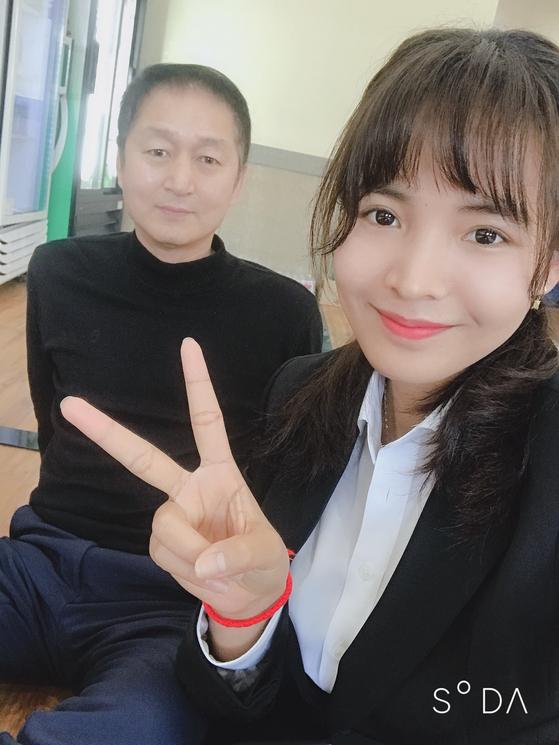 피아비를 전폭적으로 지지해주는 한국인 남편 김만식씨. [피아비 제공]