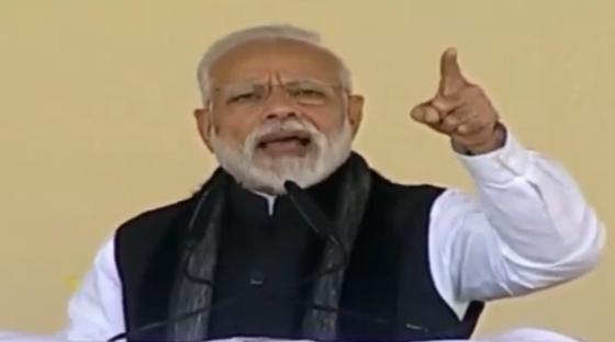 2월 15일 인도의 나렌드라 모디 총리가 내각 회의에서 강경 대응을 지시하고 있다. [사진 트위터 BJP4India]