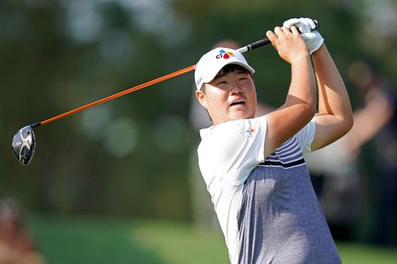 16일 PGA 플레이어스 챔피언십 2라운드 13번 홀에서 홀인원을 기록한 임성재. [로이터=연합뉴스]