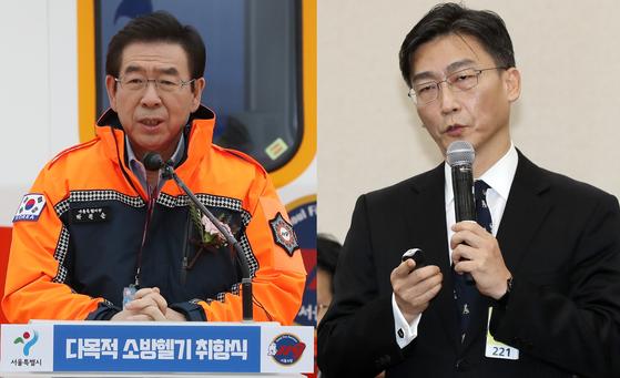 박원순 서울시장(왼쪽)과 이국종 교수.[연합뉴스·뉴스1]