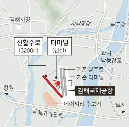김해 신공항 건설 계획도. [국토교통부]