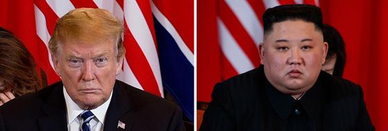 도널드 트럼프(왼쪽) 미국 대통령과 김정은(오른쪽) 북한 국무위원장. 연합뉴스