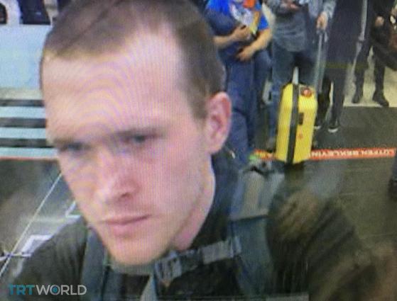 뉴질랜드 테러범으로 지목된 브렌턴 태런트(28)로 추정되는 인물. [AFP=연합뉴스]