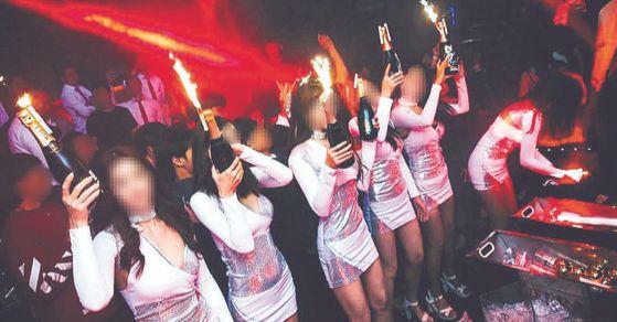 강남 한 클럽의 모습. [사진 SNS 캡처]