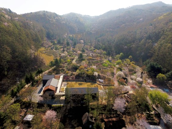 산림복합체험센터와 자생식물원을 갖춘 유명산자연휴양림. [사진 국립자연휴양림관리소]