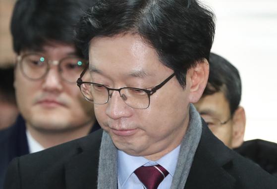 '드루킹' 김동원씨 일당에게 포털사이트 댓글 조작을 지시한 혐의로 재판에 넘겨진 김경수 경남도지사[뉴스1]