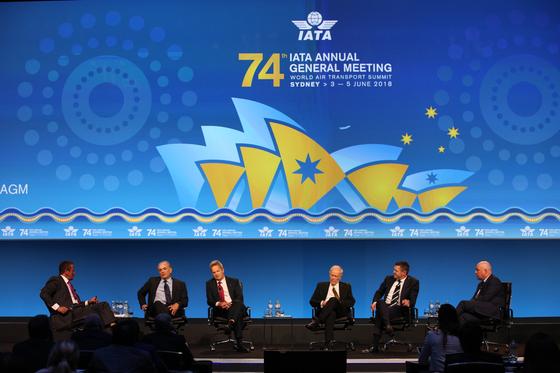 지난해 6월 호주 시드니에서 열린 국제항공운송협회(IATA) 연차총회 모습. [사진 IATA]