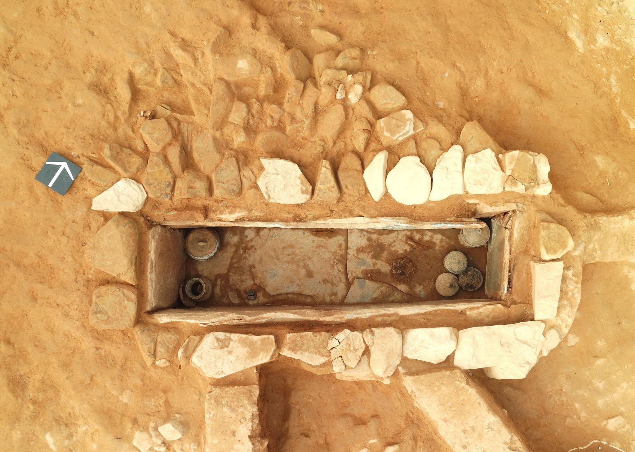 고령 지산동 고분군 내 토제방울이 출토된 제5-1호 석곽묘. [사진 대동문화재연구원]