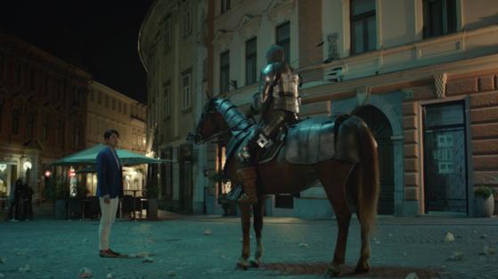 드라마 알함브라 궁전의 추억에 나오는 AR게임 장면