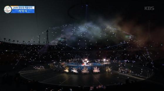 2018 평창올림픽 개막식에서는 천상열차분야지도를 형상화한 VR(가상현실) 쇼를 선보였다. [사진 KBS 방송 캡처]
