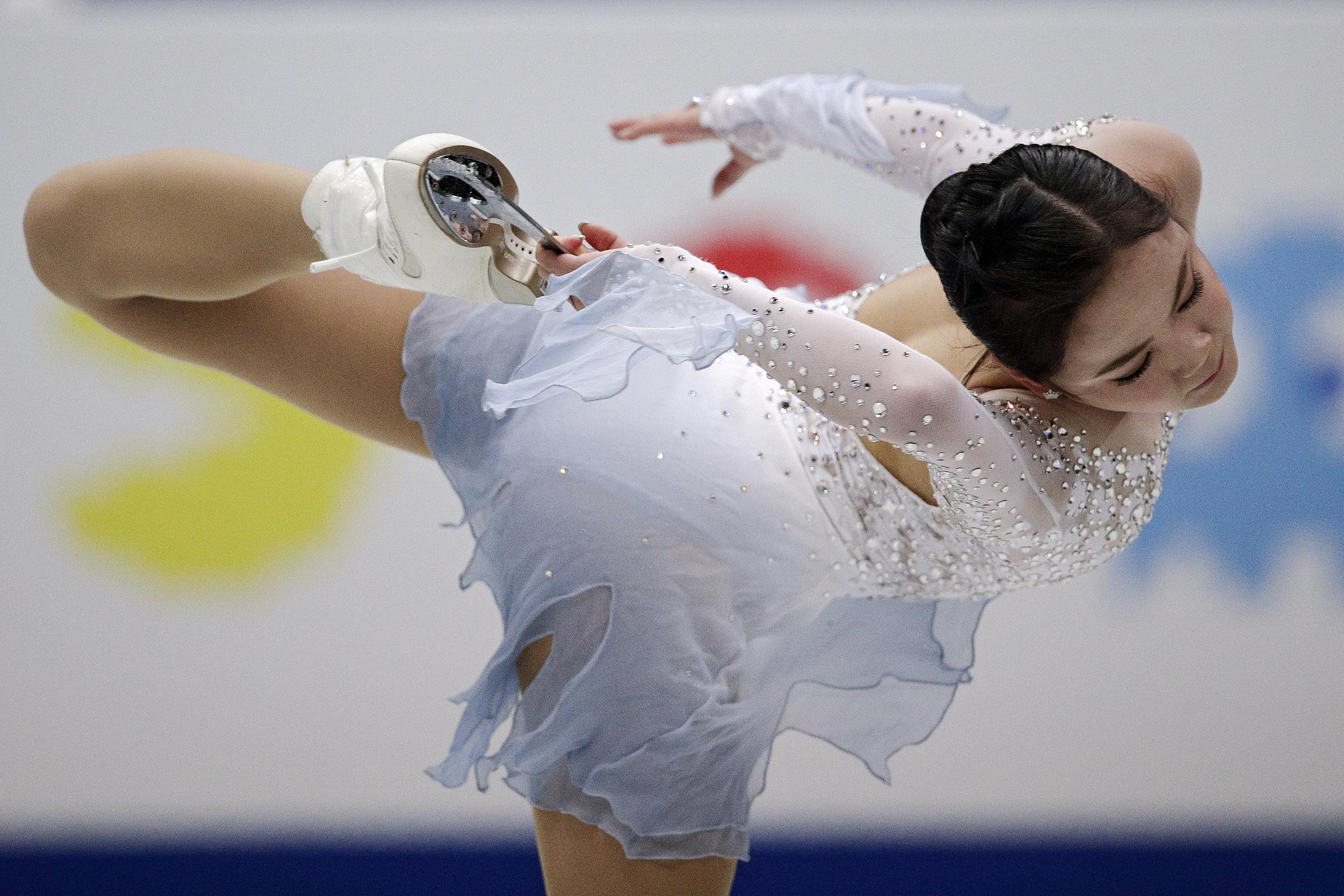 피겨스케이팅 여자 싱글의 임은수(신현고)가 20일(현지시간) 일본 사이타마의 사이타마 슈퍼 아레나에서 열린 2019 국제빙상경기연맹(ISU) 세계선수권대회 여자 싱글 쇼트 프로그램에서 연기를 펼치고 있다. [도쿄AP=연합뉴스]