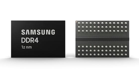 삼성전자의 '3세대 10나노급(1z) 8Gb(기가비트) DDR4(Double Data Rate 4) D램'