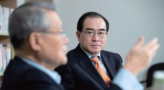 태영호 전 공사는 조성길 전 이탈리아 대사 대리의 망명에 관한 발언으로 북한 인권문제를 환기시켰다. / 사진 : 김현동 기자