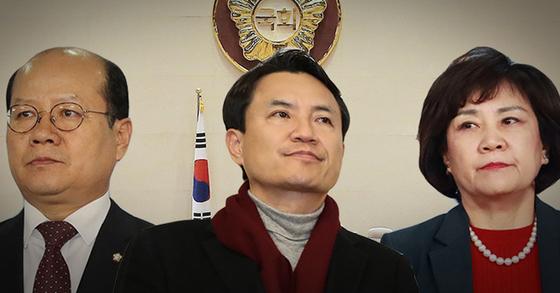 자유한국당 이종명(왼쪽부터)·김진태·김순례 의원. [연합뉴스]