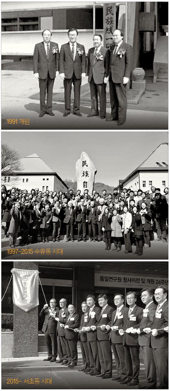 통일연구원은 1991년 민족통일연구원으로 출범해 통일·북한 중추 국책 연구기관으로 자리매김 했고, 서울 남산·수유동 시절을 거쳐 2015년 서초동 시대를 열었다. [중앙포토]