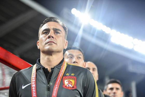 파비오 칸나바로 신임 중국축구대표팀 감독이 데뷔전에서 태국에 패하며 자존심을 구겼다. [AP=연합뉴스]