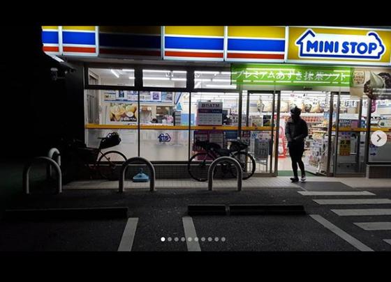 일본의 편의점. 라이딩 도중 식사와 스마트 기기 충전 등을 해결하는 곳이다. [사진 박종하 인스타그램]