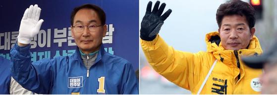 권민호 더불어민주당 후보(왼쪽)와 여영국 정의당 후보. [연합뉴스]