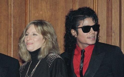 바브라 스트라이샌드(왼쪽)와 마이클 잭슨. [AP=연합뉴스]