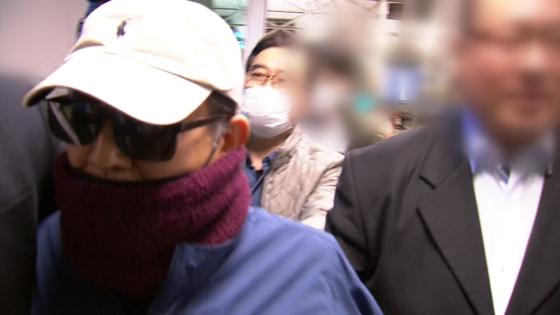 김학의 전 법무부 차관이 23일 인천공항을 통해 출국을 시도했다가 불발됐다. [jtbc 캡처]