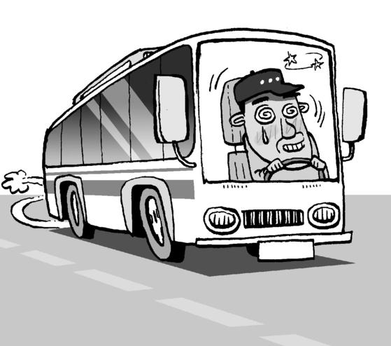 요금을 내라는 버스운전사의 요구가 기분 나쁘다며 보호막 도어를 부순 남성에게 징역형 집행유예가 선고됐다. [중앙포토]