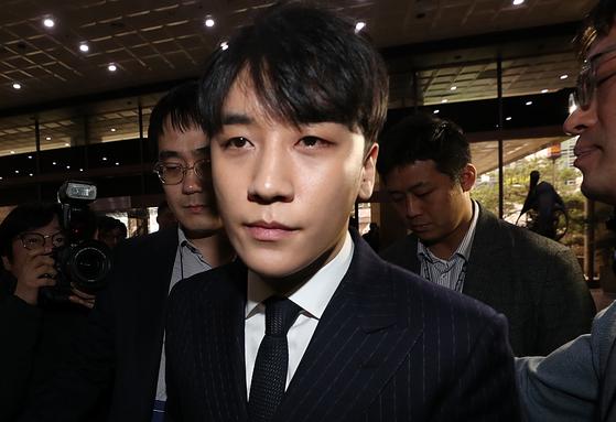 성접대 의혹을 받고 있는 빅뱅 전 멤버 승리. [연합뉴스]