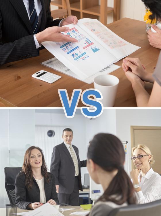 영업에 상당한 내공을 가지고 있는 A 대표, 기획과 마케팅에 힘쓰며 창업 공신들과 회사를 이끌어온 B 대표. 둘 중 어느 쪽이 효과적인 경영 방식이라고 생각하는가? [사진 photoAC]