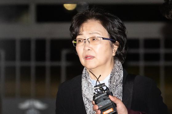 '환경부 블랙리스트 의혹'으로 김은경 전 환경부 장관에게 구속영장이 청구됐지만 26일 새벽 기각됐다. [뉴스1]