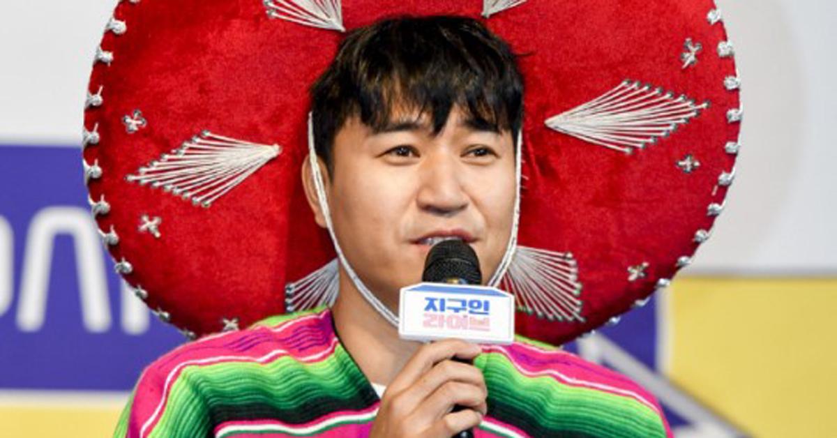 채널A '지구인라이브' 제작발표회에 참석한 가수 김종민. [뉴시스]