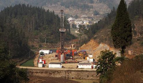 중국 쓰촨성의 셰일가스 시추시설. [글로벌타임스=연합뉴스]
