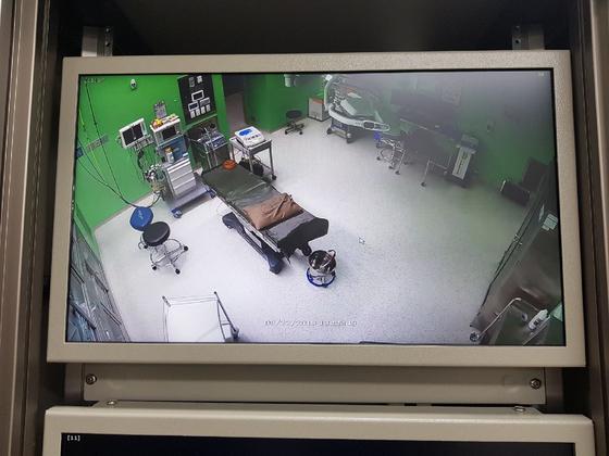 경기의료원 안성병원에 설치된 CCTV. [사진 경기도]