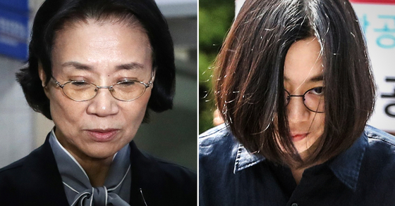 이명희 일우재단 이사장(왼쪽)과 장녀 조현아 대한항공 전 부사장. [연합뉴스, 뉴스1]