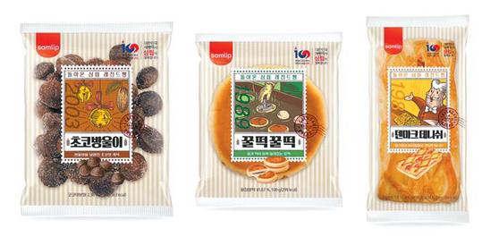 SPC삼립은 1980년대 및 2000년 초반에 출시해 인기를 끌었던 초코방울이·꿀떡꿀떡?덴마크데니쉬 등 제품 3종을 선보였다. [사진 SPC삼립]