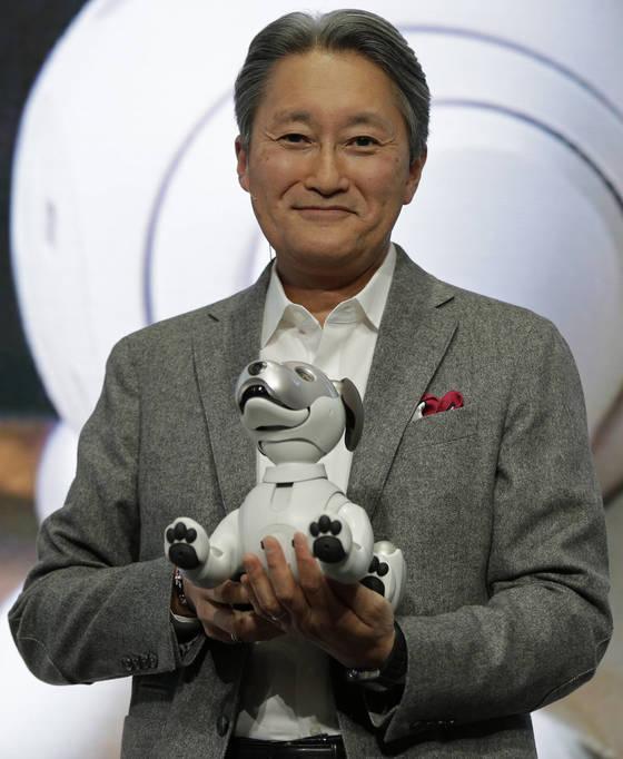 지난해 초 미국 라스베이거스에서 열린 한 가전쇼에 참석한 히라이 가즈오 일본 소니 회장. [AP=연합뉴스]