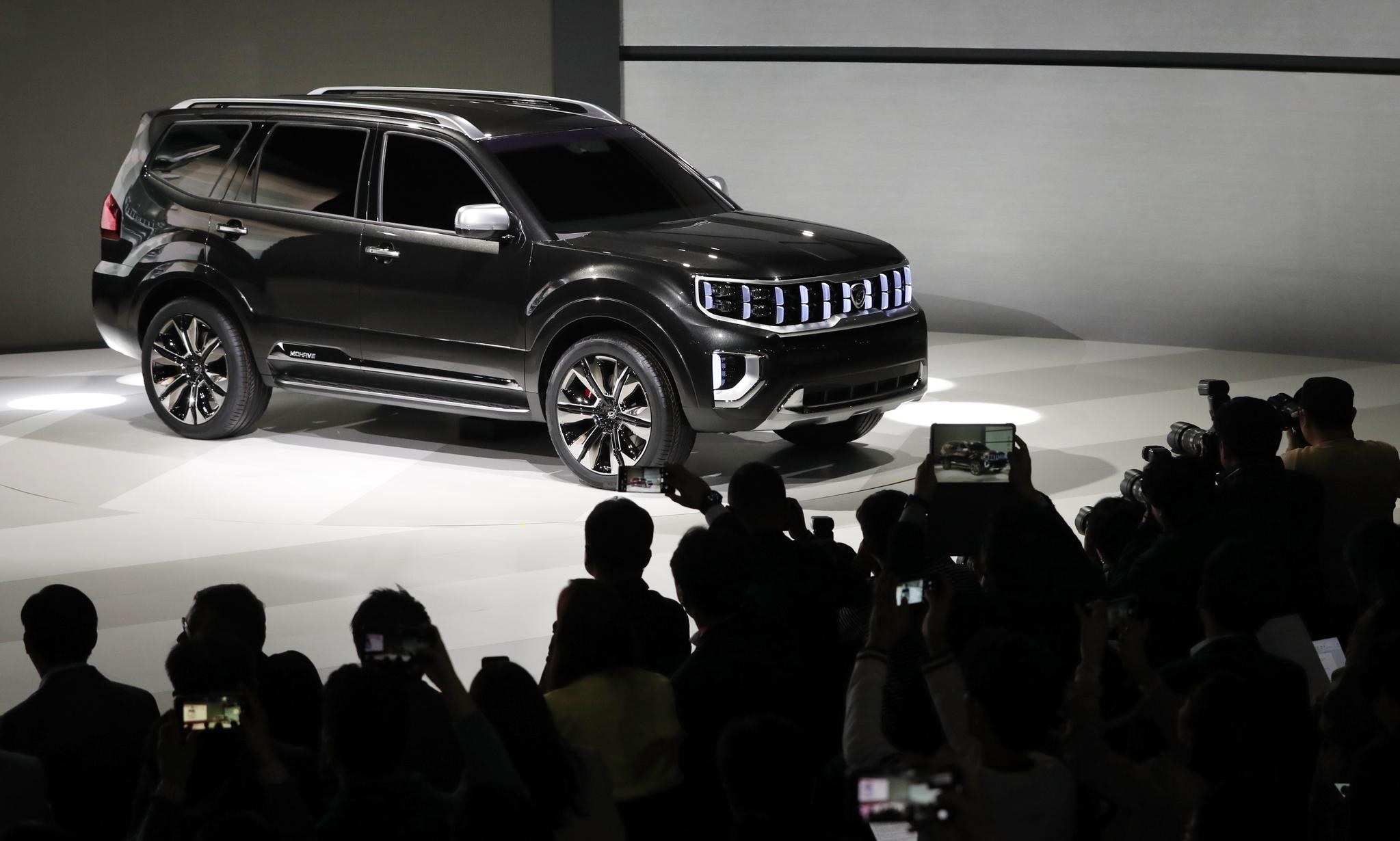 기아자동차가 올 하반기 출시를 앞둔 플래그십 SUV 모하비의 콘셉트카 '모하비 마스터피스(Masterpiece)'[뉴스1]