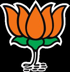 인도 집권당 BJP를 상징하는 연꽃 로고.[중앙포토]