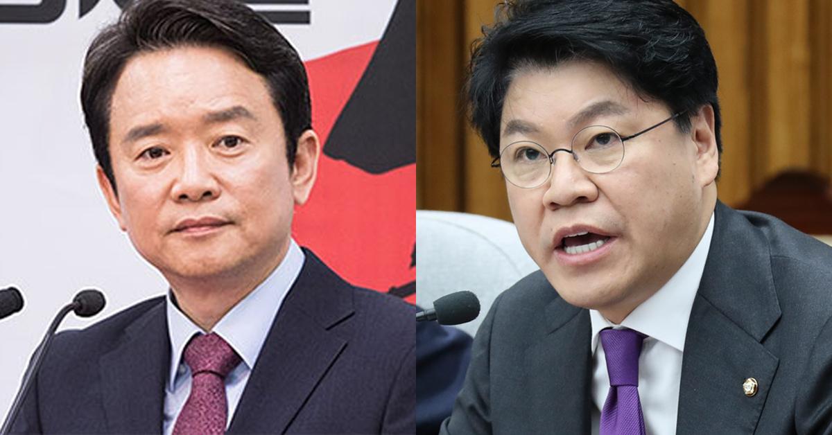 남경필 전 경기지사(왼쪽)과 장제원 자유한국당 의원. [연합뉴스, 임현동 기자]