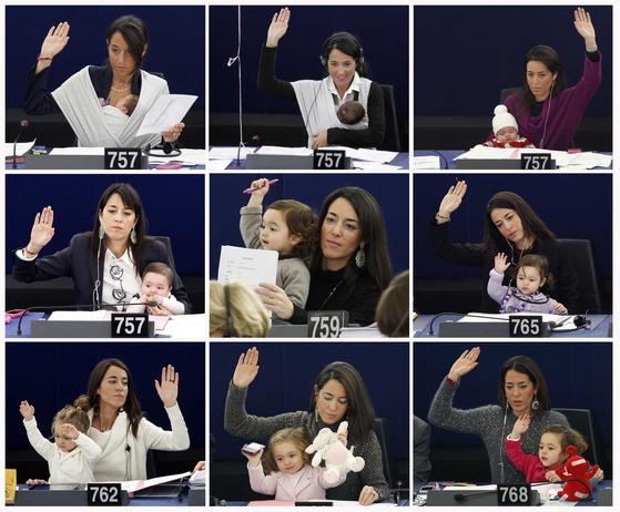 리치아 론줄리 유럽의회의원의 딸 빅토리아의 성장과정을 엿볼 수 있는 2010년 9월 22일부터 2013년 11월 19일까지 촬영된 사진. [로이터=연합뉴스]