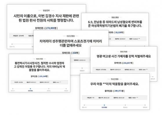 청와대 국민청원 게시판은 임금에게 모든 갈등 해결을 맡기는 현대판 신문고나 다름없다는 지적을 받는다. / 사진:국민청원게시판 캡처