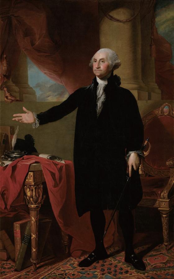 미국의 초대 대통령 조지 워싱턴은 왕정의 유혹을 끝까지 거절하고 민주주의를 지켰다.