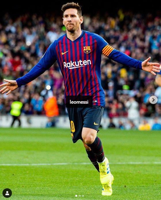 에스파뇰전에서 2골을 터트리며 승리를 이끈 바르셀로나 메시. [바르셀로나 인스타그램]