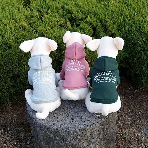 이화여대 기념품숍에서 판매하는 강아지 기모 후드. [사진 이화기념품점]