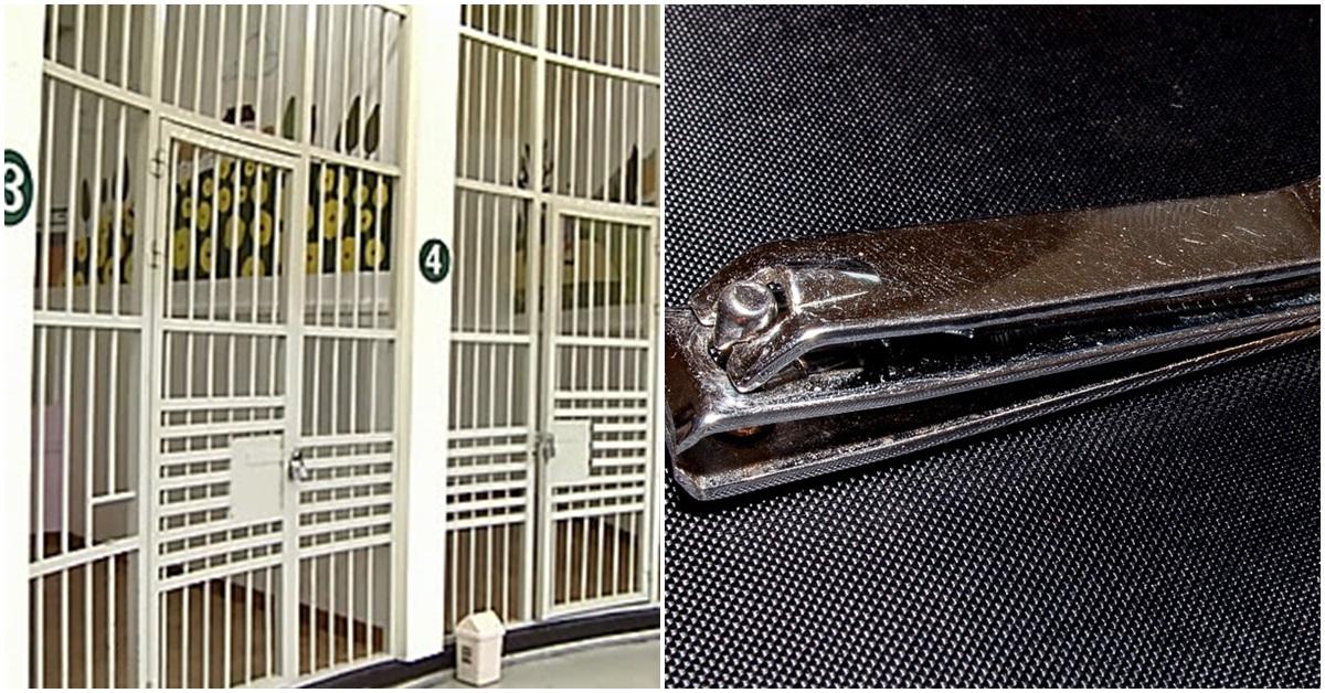 경찰서 유치장(왼쪽)과 손톱깎기. 위 사진들은 기사 내용과 무관함. [연합뉴스·픽사베이]