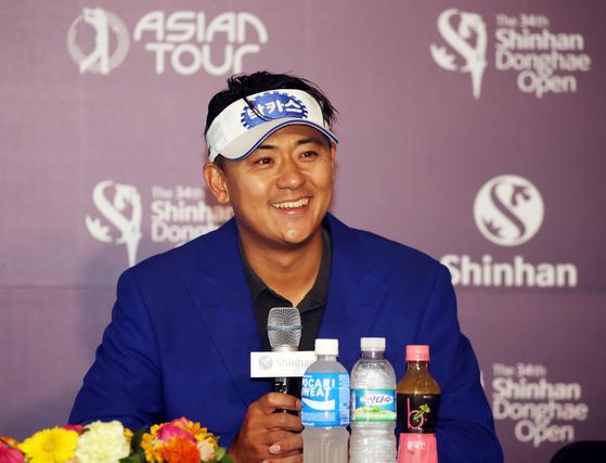 지난해 신한동해오픈 우승자 박상현. 올해 국내 투어 선수 출전 쿼터는 3분의 1로 줄었다. [신한동해오픈 조직위 제공]