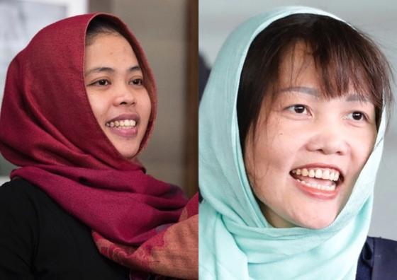 김정남을 살해한 혐의로 구속됐던 여성 2명이 석방 후 북한 당국에 살해될 가능성이 있다는 분석이 나왔다. [뉴시스]